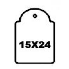 Hangetiket met koord 15x24mm 1000st Td35251524